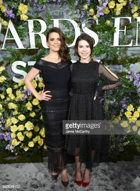Hayley Atwell and Philippa Coulthard attend New York Red Carpet Premiere Screening Event of STARZ 'Howards End' at the Whitby Hotel on April 4 2018...