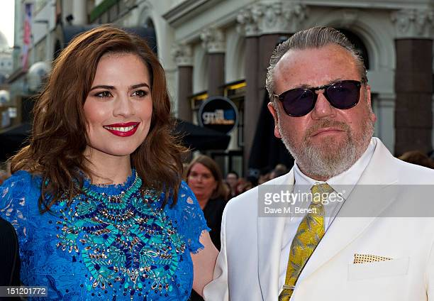 Hayley Atwell and Ray Winstone attend the UK Film Premiere of 'The Sweeney' at Vue Leicester Square on September 3, 2012 in London, England.