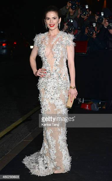 Hayley Atwell arrives for the London Evening Standard Theatre Awards held at the Savoy Hotel on November 17 2013 in London England