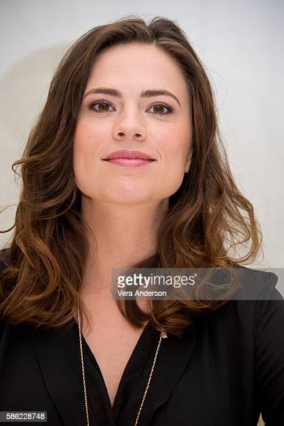 Hayley Atwell at the 'Conviction' Press Conference at the Four Seasons Hotel on August 5 2016 in Beverly Hills California