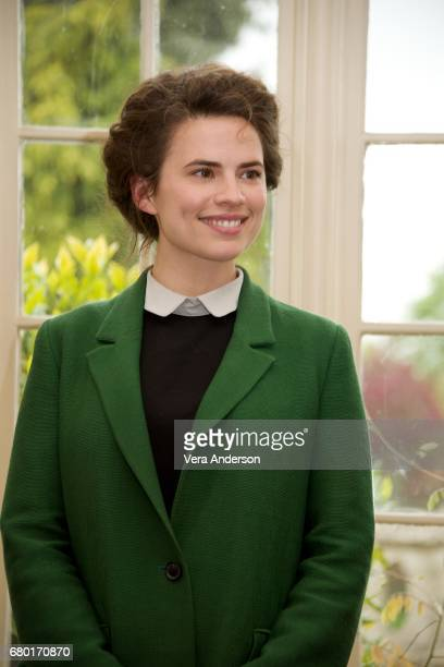 Hayley Atwell at the 'Howards End' Set Visit at the DeVere Estate on May 3 2017 in Surrey England