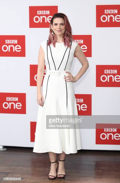 Hayley Atwell attends a photocall for BBC One's The Long Song at Soho Hotel on December 11 2018 in London England