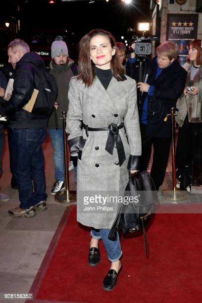 Hayley Atwell attends a photocall for Naomi Sheldon's awardwinning debut play 'Good Girl' at Trafalgar Studios on March 6 2018 in London England