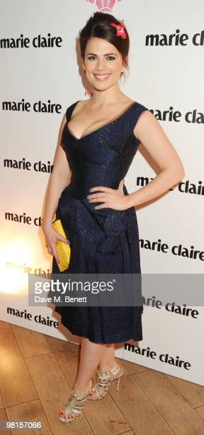 Hayley Atwell attends Marie Claire's Inspire Mentor Campaign party at The Loft at the Ivy Club on March 30 2010 in London England