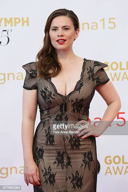 Hayley Atwell attends the 55th Monte Carlo TV Festival Closing Ceremony and Golden Nymph Awards at the Grimaldi Forum on June 18 2015 in MonteCarlo...