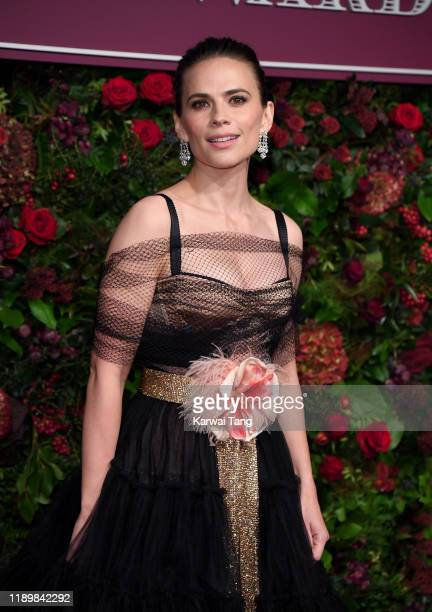 Hayley Atwell attends the 65th Evening Standard Theatre Awards at London Coliseum on November 24 2019 in London England