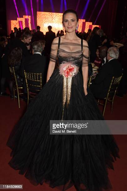 Hayley Atwell attends the 65th Evening Standard Theatre Awards in association with Michael Kors at the London Coliseum on November 24, 2019 in...