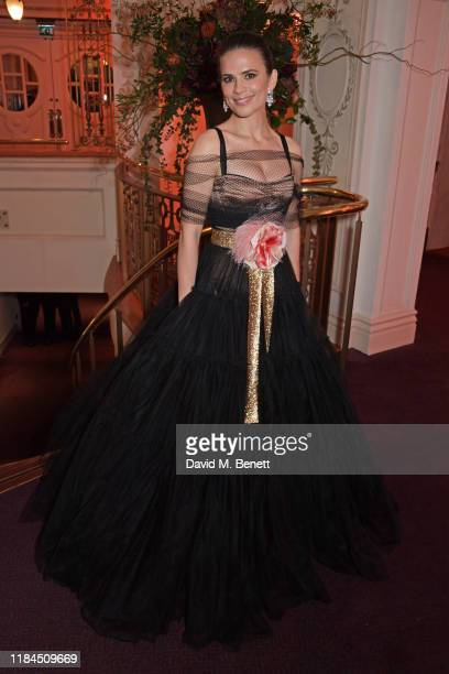 Hayley Atwell attends the 65th Evening Standard Theatre Awards in association with Michael Kors at the London Coliseum on November 24 2019 in London...