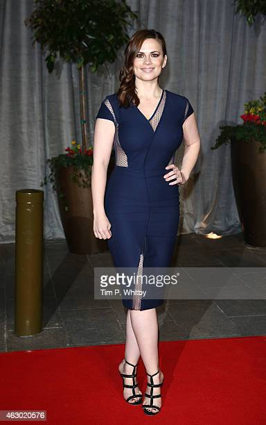 Hayley Atwell attends the after party for the EE British Academy Film Awards at The Grosvenor House Hotel on February 8 2015 in London England
