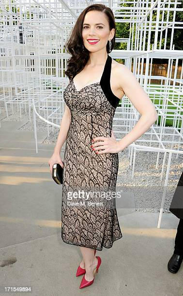 Hayley Atwell attends the annual Serpentine Gallery Summer Party cohosted by L'Wren Scott at The Serpentine Gallery on June 26 2013 in London England