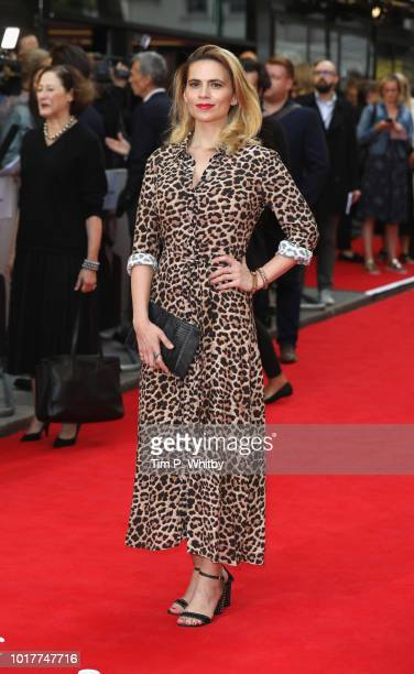Hayley Atwell attends 'The Children Act' UK Premiere at The Curzon Mayfair on August 16 2018 in London England