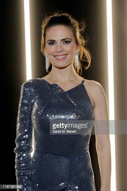 Hayley Atwell attends the dunhill Dylan Jones PreBAFTA dinner at dunhill Bourdon House on January 29 2020 in London United Kingdom