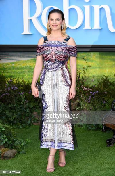 Hayley Atwell attends the European Premiere of 'Christopher Robin' at BFI Southbank on August 5 2018 in London England