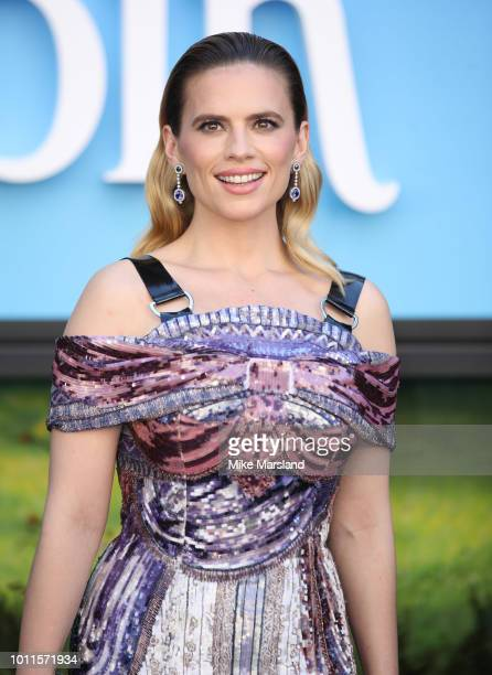 Hayley Atwell attends the European Premiere of 'Christopher Robin' at BFI Southbank on August 5, 2018 in London, England.