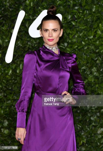Hayley Atwell attends The Fashion Awards 2019 at the Royal Albert Hall on December 02 2019 in London England