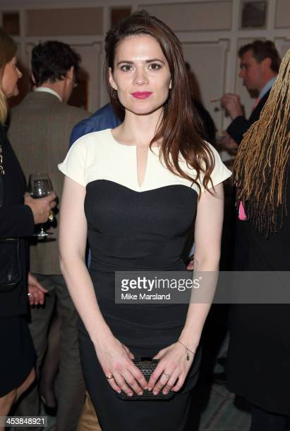 Hayley Atwell attends the Fayre of St James at St James' Church on December 5 2013 in London England