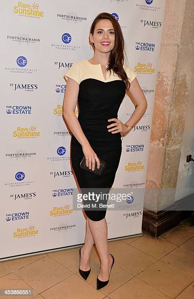 Hayley Atwell attends the Fortnum Mason and Quintessentially Foundation 'Fayre of St James' in association with The Crown Estate at St James' Church...