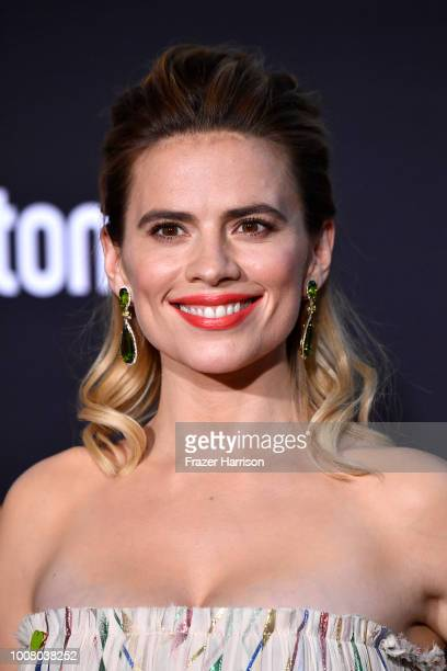 Hayley Atwell attends the Premiere Of Disney's Christopher Robin at Walt Disney Studios on July 30 2018 in Burbank California