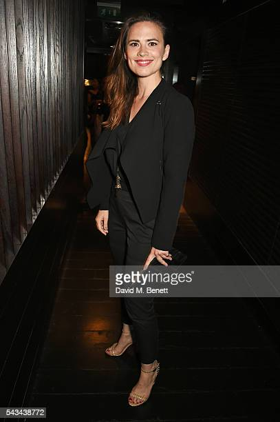 Hayley Atwell attends the press night after party for '1984' at The Mint Leaf on June 28 2016 in London England