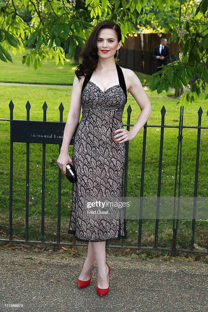 Hayley Atwell attends The Serpentine Gallery Summer Party at The Serpentine Gallery on June 26, 2013 in London, England.