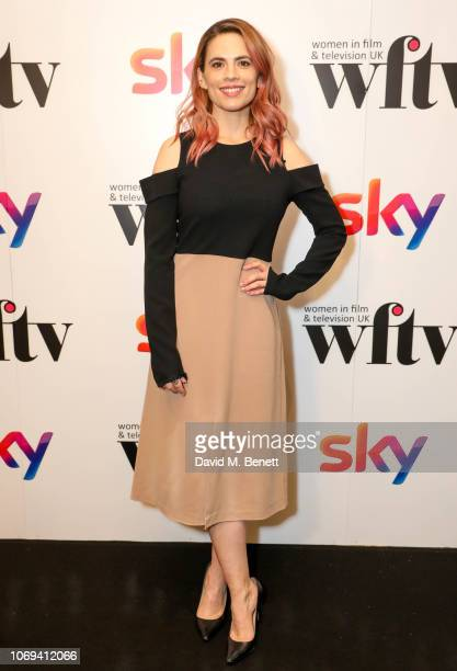 Hayley Atwell attends the Sky Women in Film and Television UK Awards 2018 at the London Hilton on December 7, 2018 in London, England.