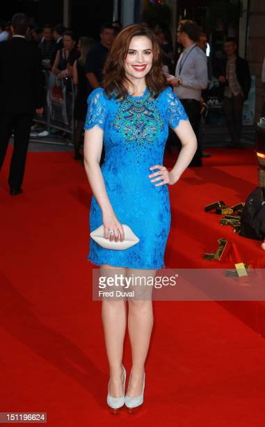 Hayley Atwell attends The Sweeney European premiere at Vue Leicester Square on September 3 2012 in London England