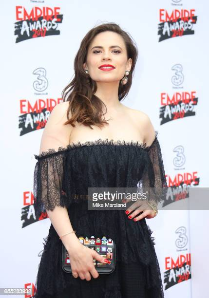Hayley Atwell attends the THREE Empire awards at The Roundhouse on March 19 2017 in London England