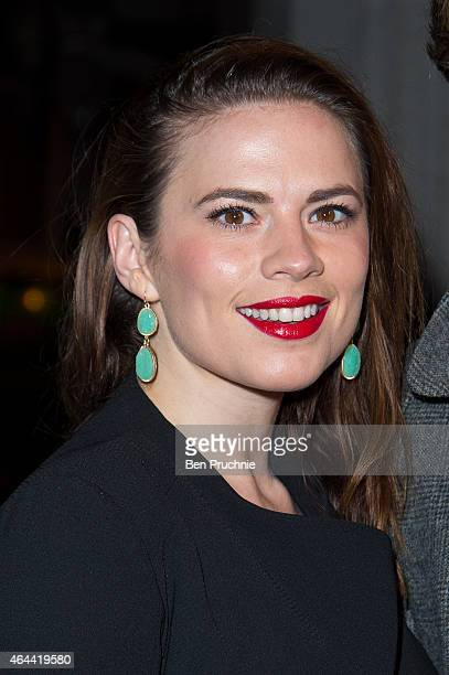 Hayley Atwell attends the Warner after party for the BRIT Awards 2015 at on February 25 2015 in London England