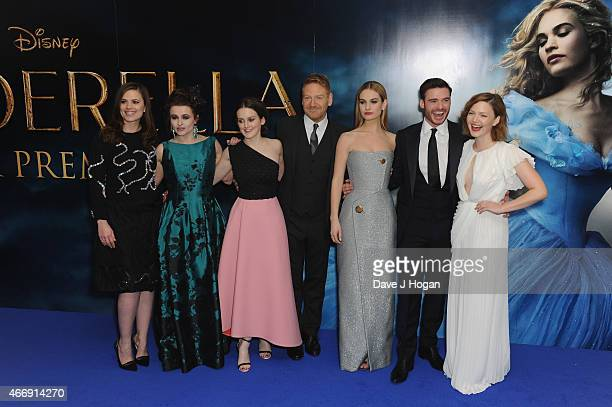 Hayley Atwell Helena Bonham Carter Sophie McShera Kenneth Branagh Lily James Richard Madden and Holliday Grainger attend the UK Premiere of...