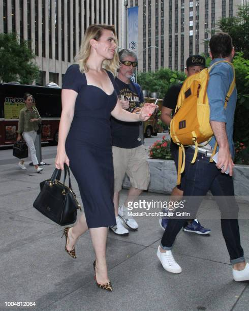 Hayley Atwell is seen on July 24 2018 in New York City