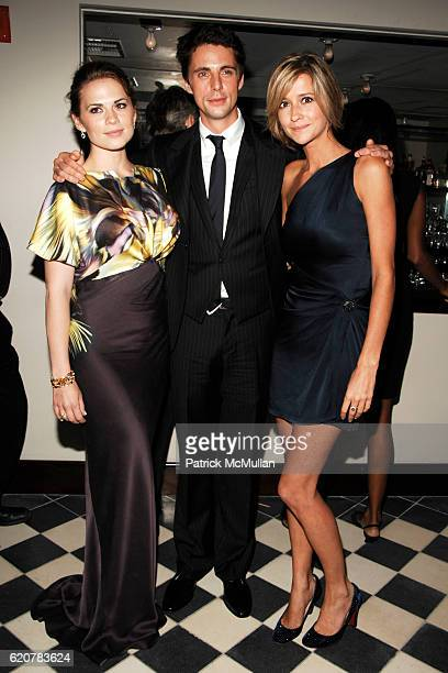 Hayley Atwell Matthew Goode and Sophie Dymoke attend THE CINEMA SOCIETY VICTORINOX host the after party for BRIDESHEAD REVISITED at Gramercy Park...