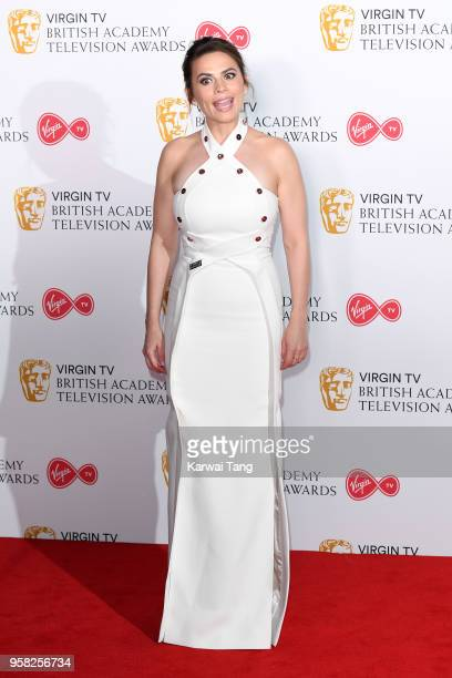 Hayley Atwell poses in the press room during the Virgin TV British Academy Television Awards at The Royal Festival Hall on May 13 2018 in London...