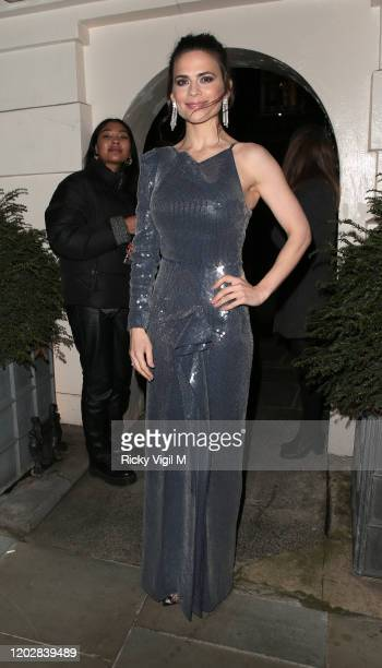 Hayley Atwell seen attending Dunhill Dylan Jones BAFTAs Filmmakers Dinner Party at Bourdon House on January 29 2020 in London England