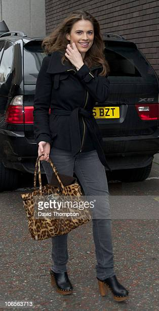 Hayley Atwell sighted leaving the ITV studios on November 5 2010 in London England