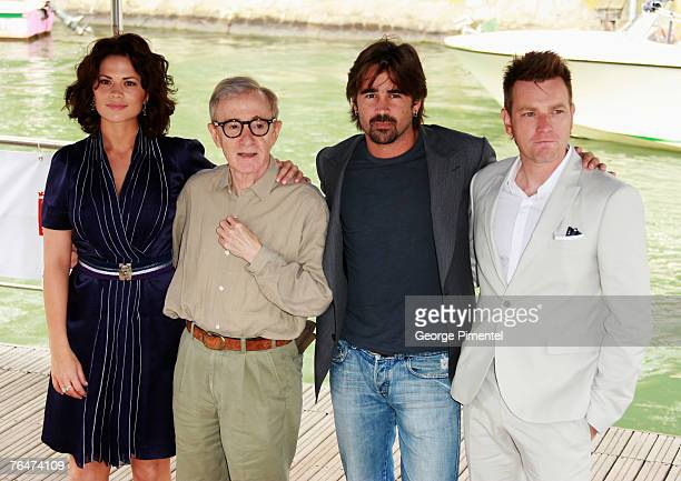 Hayley Atwell, Woody Allen, Colin Farrell and Ewan McGregor arrive by boat to attend the Cassandra's Dream Photocall during Day 5 of the 64th Annual...