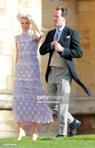 Hayley Bloomingdale and Dada Stileman attend the wedding of Princess Eugenie of York and Jack Brooksbank at St George's Chapel on October 12 2018 in...