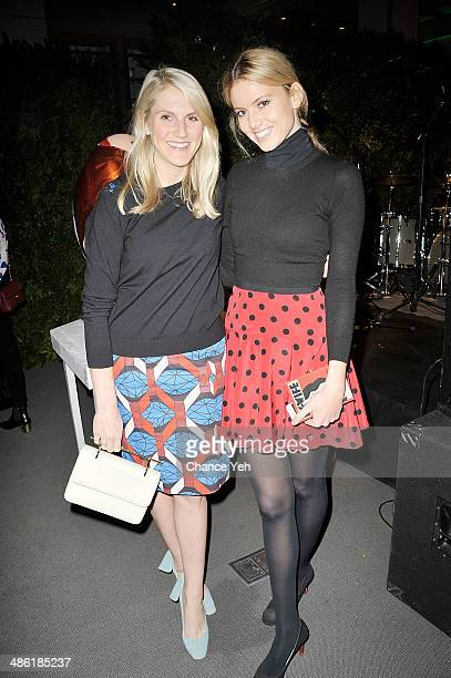 Hayley Bloomingdale and Molly Ruprect attends the 2014 Faberge Big Egg Hunt Auction at Sotheby's on April 22 2014 in New York City