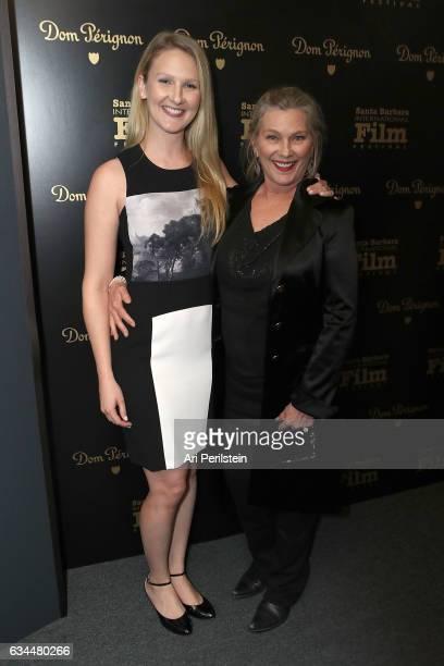 Hayley Bridges and Susan Geston visit the Dom Perignon Lounge at The Santa Barbara International Film Festival on February 9 2017 in Santa Barbara...