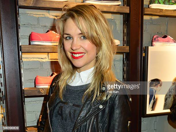 Hayley Edmonds from Canal Plus FAT attends the 'Vans Store' Opening Part y At Vans Shop Rue Quincampoix on April 11 2013 in Paris France