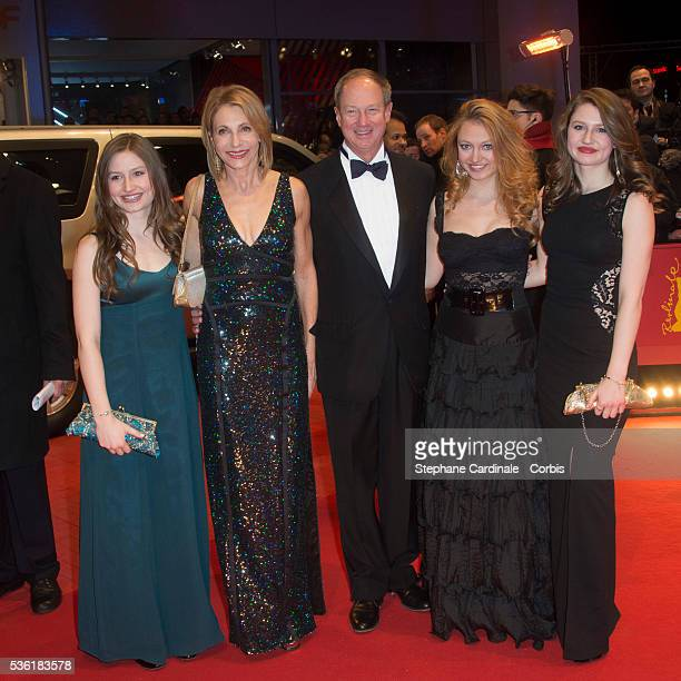 Hayley Emerson, Kimberly Marteau Emerson, US Ambassador to Germany John B. Emerson, Jacqueline Emerson and Taylor Emerson attend the 'Hail, Caesar!'...