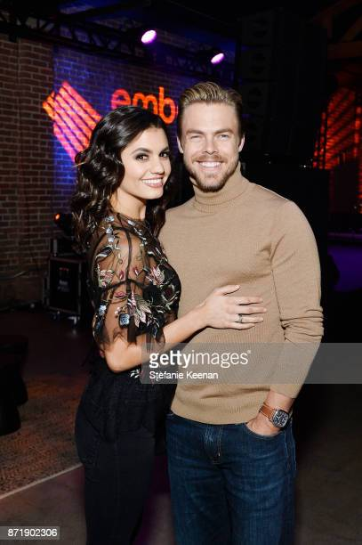 Hayley Erbert and Derek Hough attend Ember celebrates VIP launch event with Iggy Azalea on November 8 2017 in Los Angeles California