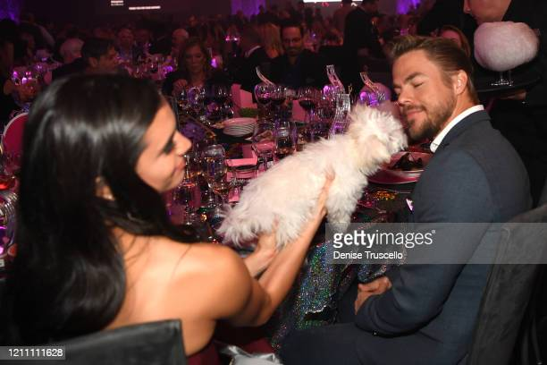 Hayley Erbert and Derek Hough attend the 24th annual Keep Memory Alive 'Power of Love Gala' benefit for the Cleveland Clinic Lou Ruvo Center for...