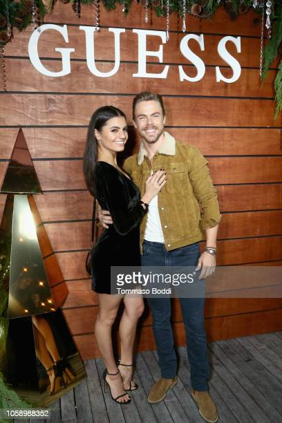 Hayley Erbert and Derek Hough attend the GUESS Holiday 2018 Event on November 7 2018 in West Hollywood California