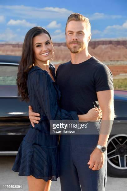 Hayley Erbert and Derek Hough attend the Premiere of Netflix's 'El Camino A Breaking Bad Movie' at Regency Village Theatre on October 07 2019 in...