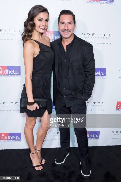 Hayley Erbert and President and CEO of the Krim Group Todd Krim arrive for the Childhelp Hosts An Evening Celebrating Hollywood Heroes at Riviera 31...