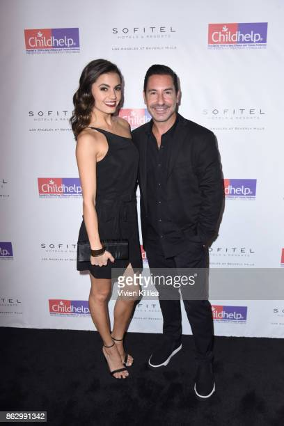 Hayley Erbert and President and CEO of the Krim Group Todd Krim attend Childhelp Hollywood Heroes on October 18 2017 in Beverly Hills California