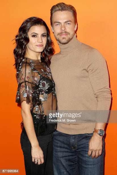 Hayley Erbert and professional dancer Derek Hough attend Ember Launch Celebrating a Journey Through Temperature and Taste at Goya Studios on November...