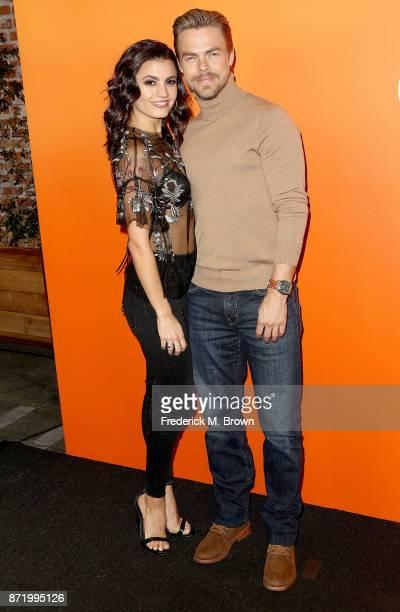 Hayley Erbert and professional dancer Derek Hough attend Ember Launch Celebrating a Journey Through Temperature and Taste at Goya Studios on November...