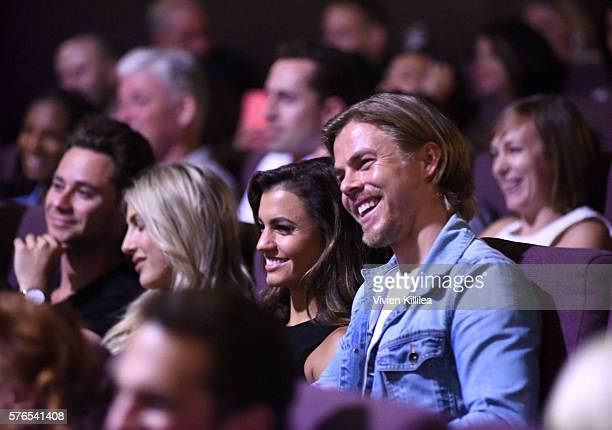 Hayley Erbert and professional dancer Derek Hough attend the celebration of the release of Joe Berlinger / Tony Robbins documentary I Am Not Your...