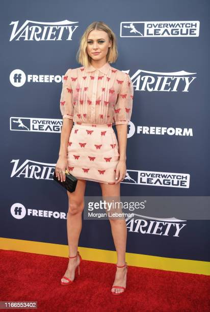 Hayley Erin arrives at Variety's Power Of Young Hollywood party at The H Club Los Angeles on August 06 2019 in Los Angeles California